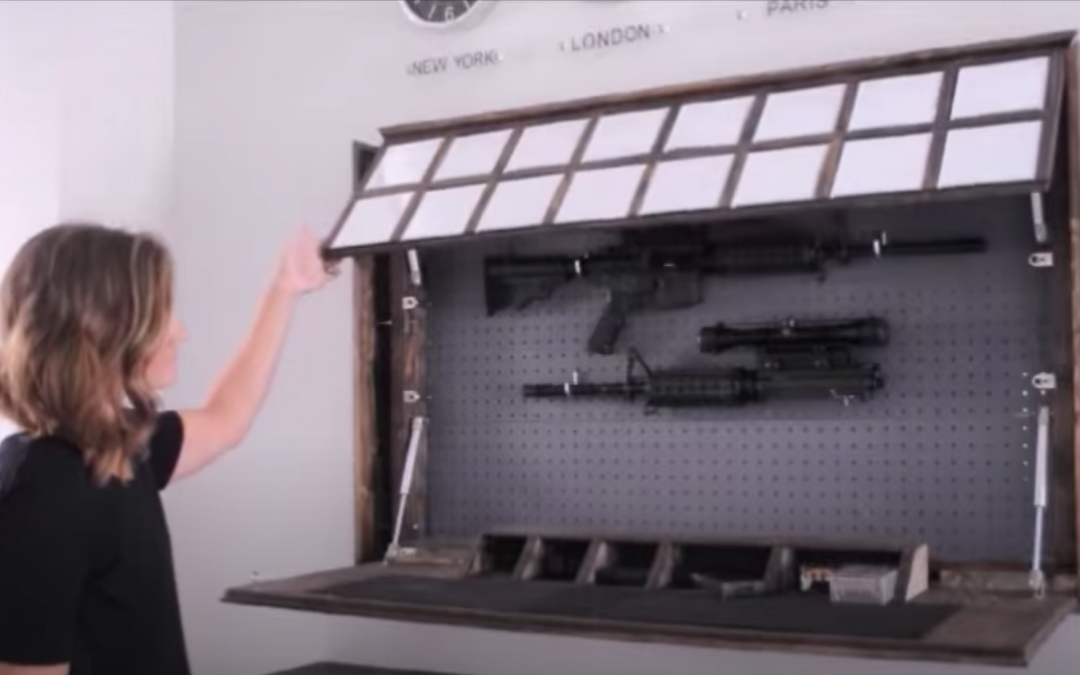 DIY Secret Gun Storage Compartment Behind Mirror
