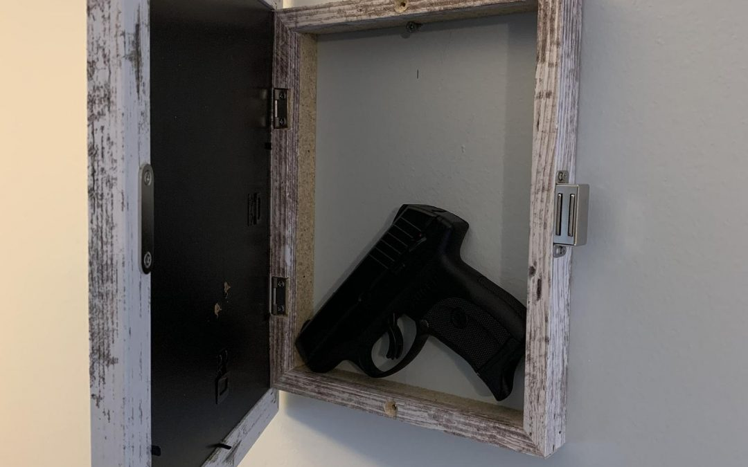 Picture Frame with Secret Gun Compartment
