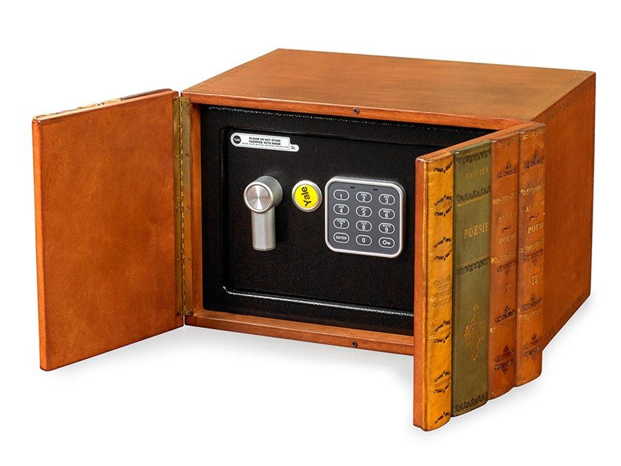 Electronic Safe Made To Look Like Leather Books